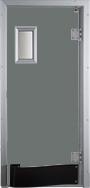 Drzwi w kolorze ciemnoszarym RAL 7005