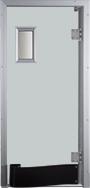 Drzwi w kolorze jasnoszarym RAL 7035