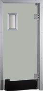 Drzwi w kolorze jasnoszarym RAL 7038