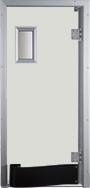 Drzwi w kolorze jasnoszarym RAL 9002